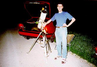 Me in July 1995 before observing Hale-Bopp [28 KB JPEG]